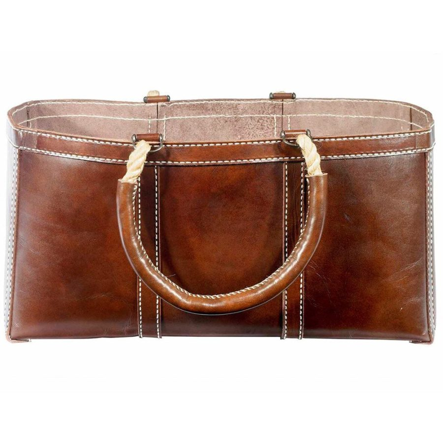 Leather Log Carrier