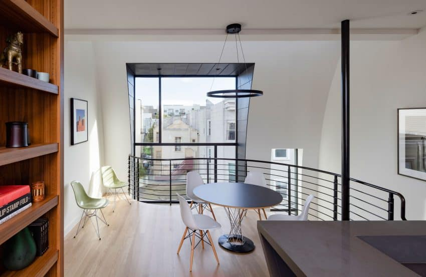 Loft too has a dining room overlooking the city