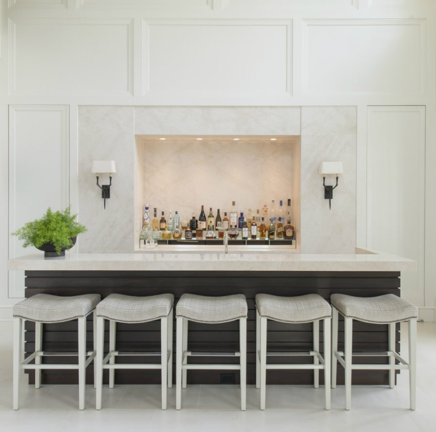 Luxe home bar by Aggregate Architecture + Design
