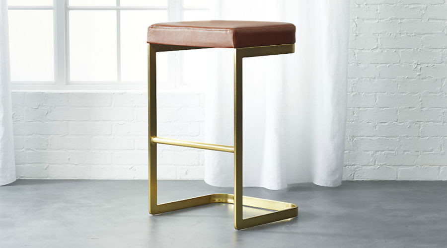 Mack Leather Bar Stool