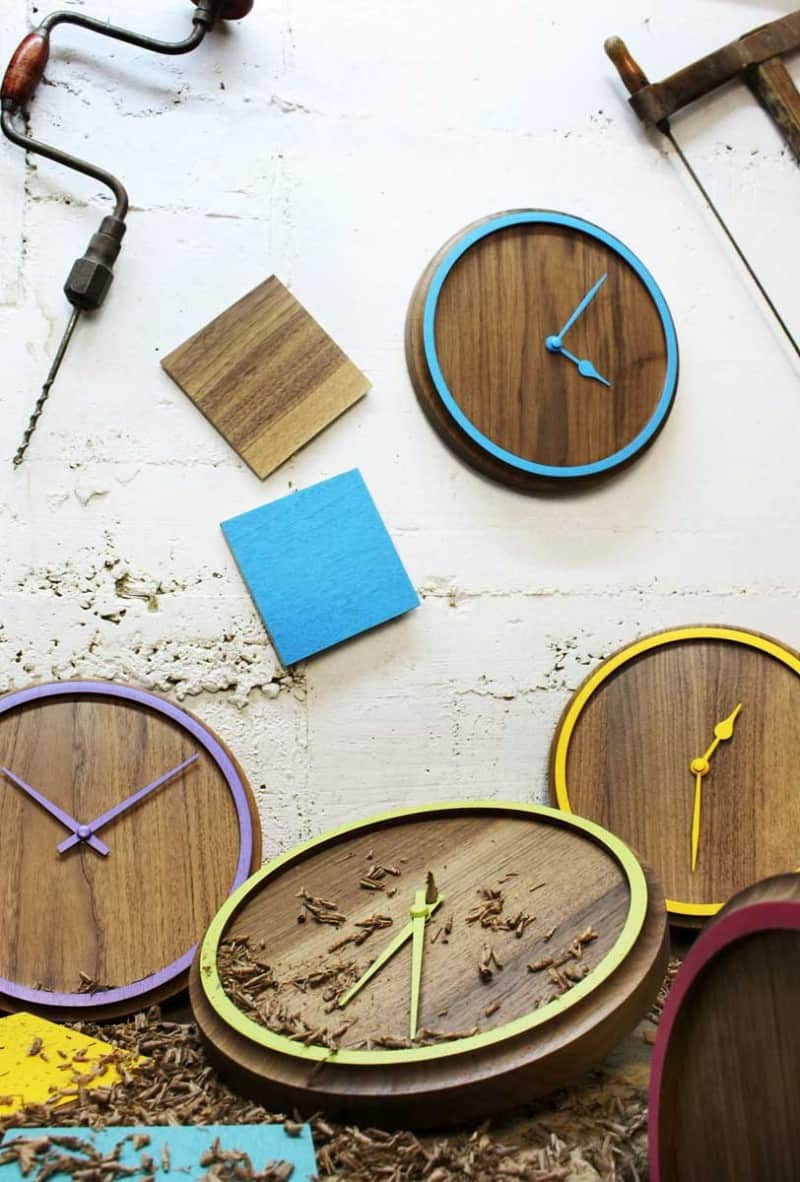 Madera clocks by OTONO Design
