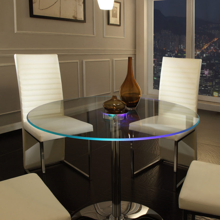 Mercury Row Argos Dining Table 900x900 Backlit Furniture Will Fill Your Home With Radiance
