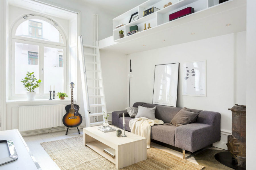 Micro loft bed