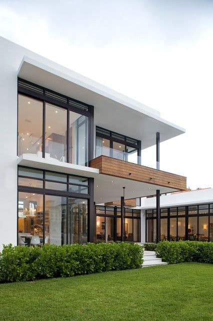 Modern Glass house and deck