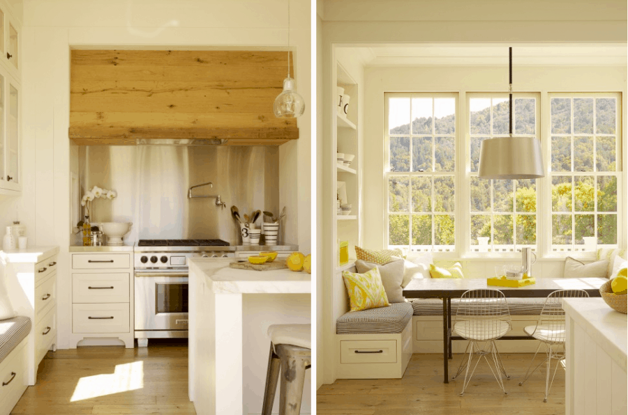 Modern Kitchen style with window seating