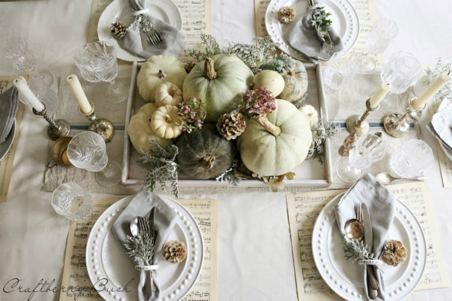 Musical fall table decor