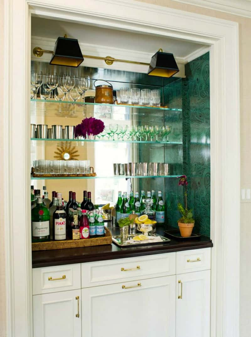Open glass bar
