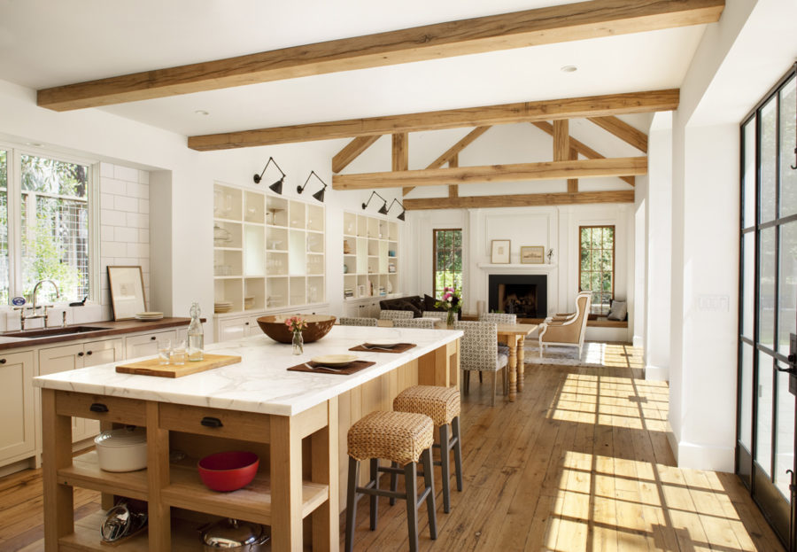 Open space farmhouse kitchen design
