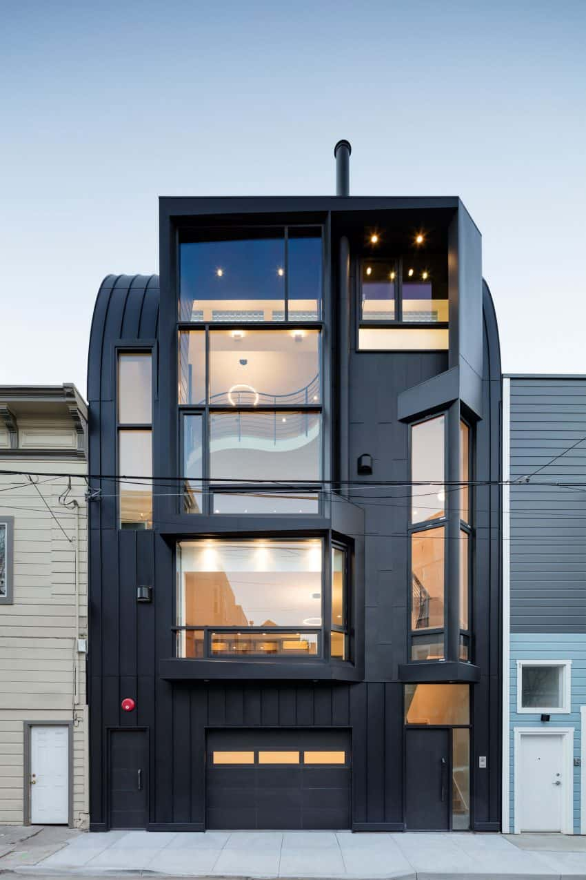 Peculiar facade produces numerous odd shaped windows San Francisco Apartment Building Becomes Linden Street Jewel