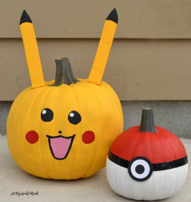Pokeball Pikachu Pumpkins