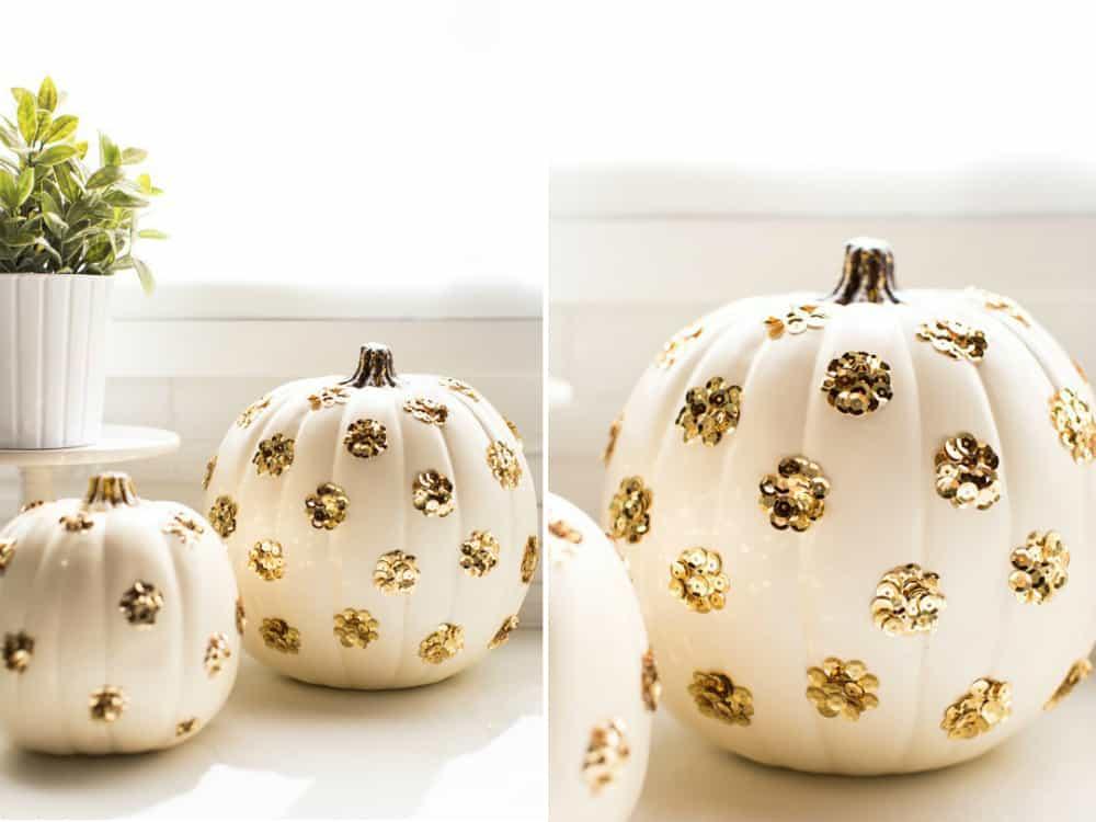 Polka dot sequined pumpkins