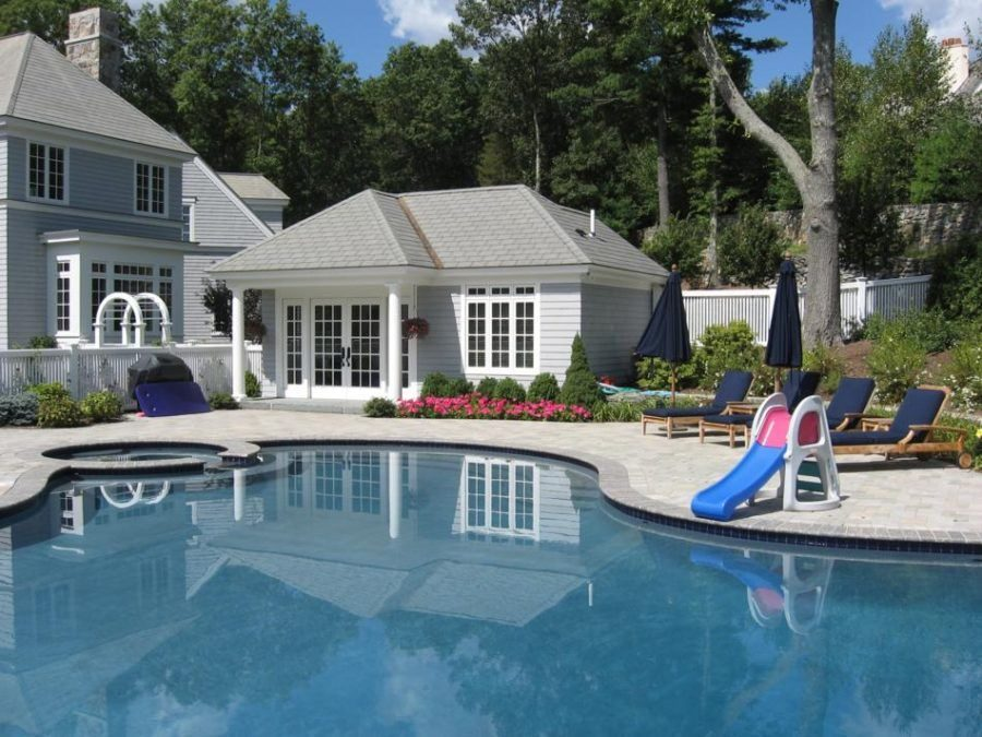 Pool closer to house if you dont have enough land