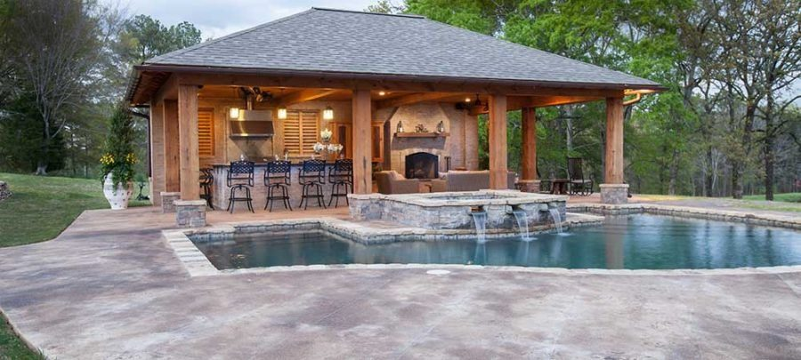 35 swoon worthy pool houses to daydream about for Pool design jackson ms