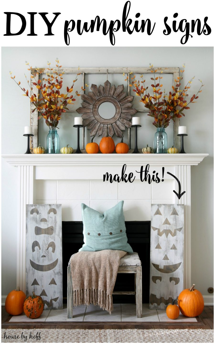 pumpkin-decoration-for-fall-fireplace