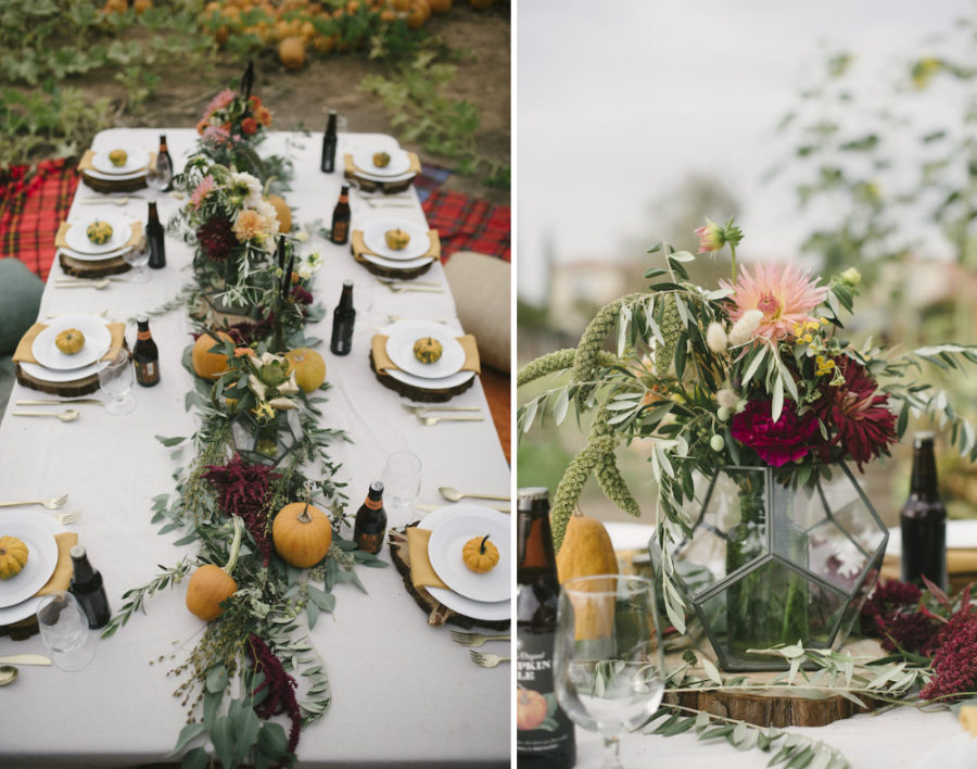 Pumpkin patch wedding table