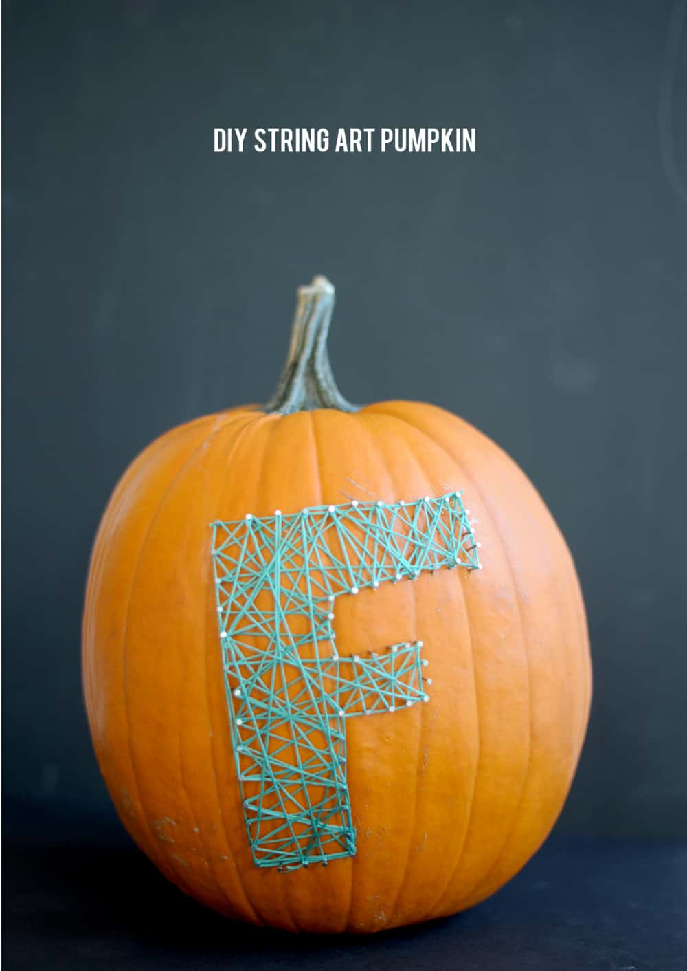 Pumpkin string art