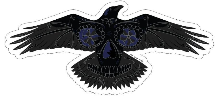 Raven sugar skull