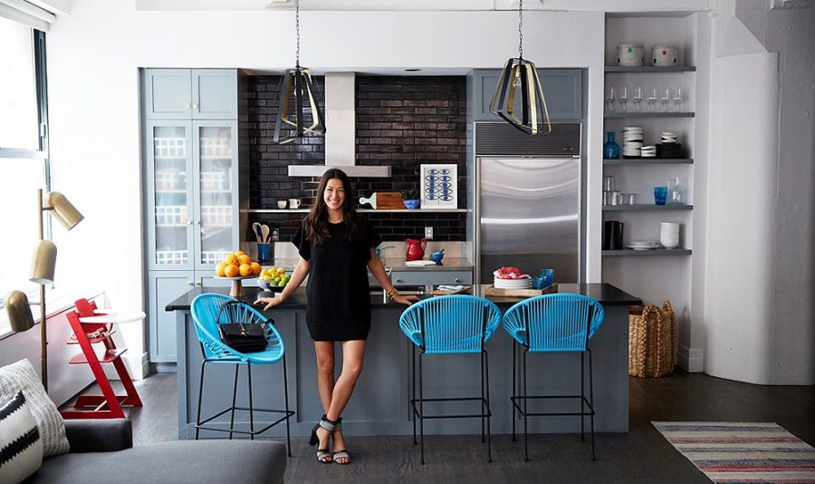 Rebecca Minkoff's kitchen with Puerto chairs