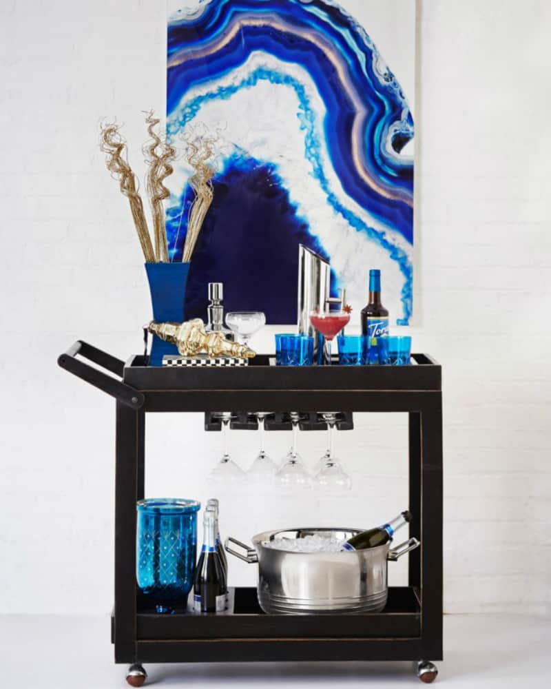 Retro bar cart