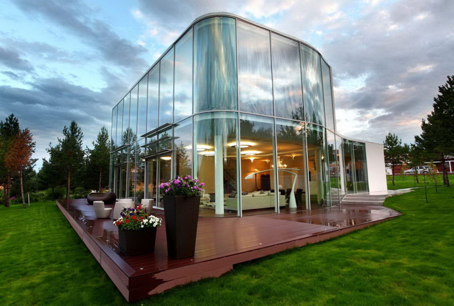 Round glass corners