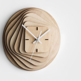 White Kitchen Wall Clocks