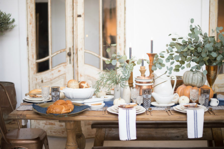 Rustic Modern Natural Fall Table Decor