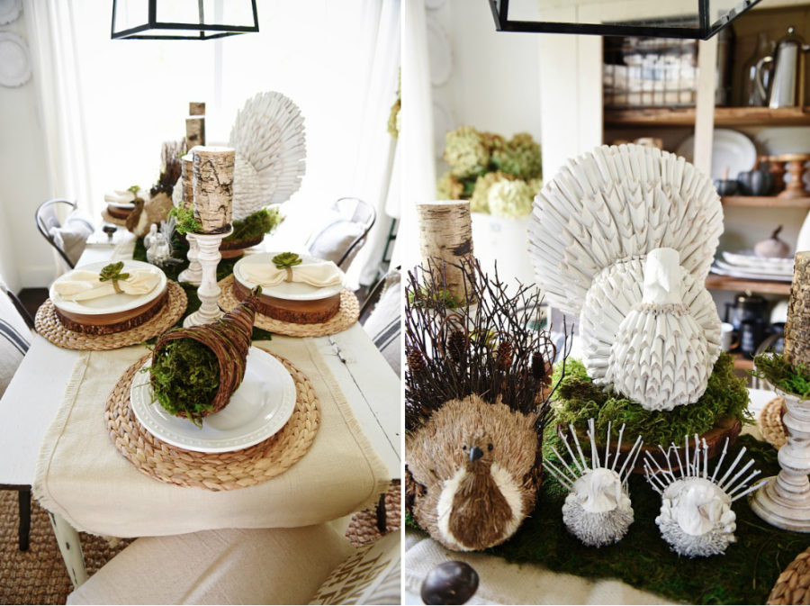 Rustic modern table decor ideas