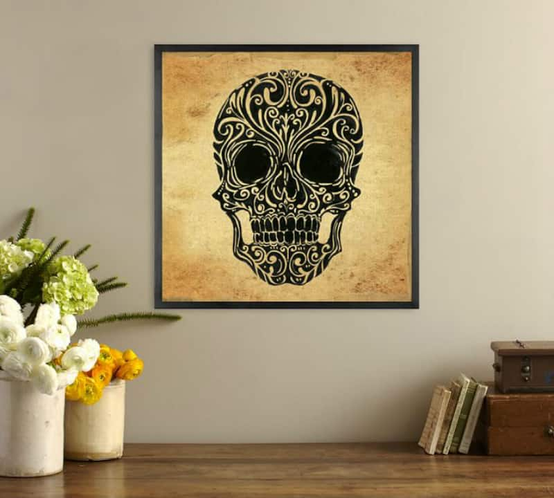 skull-art-canvas-framed-print
