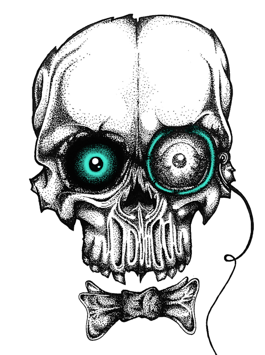 Skull Pointillism Solrac Saint-Lawrence