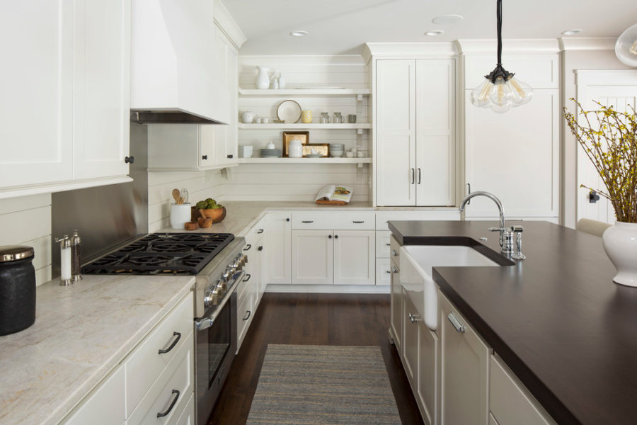 36 Modern Farmhouse Kitchens That Fuse Two Styles Perfectly on modern farmhouse-style, modern kitchen faucet, modern white townhouse, modern white rustic, modern white family, modern white garage, modern white church, modern white log cabin, modern white shed, modern white cottage,