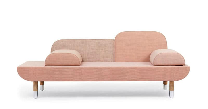 Soft pink TOWARD sofa