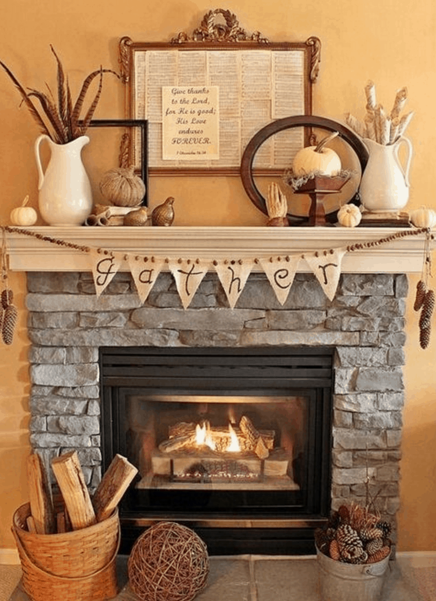 15 Fall Decor Ideas For Your Fireplace Mantle