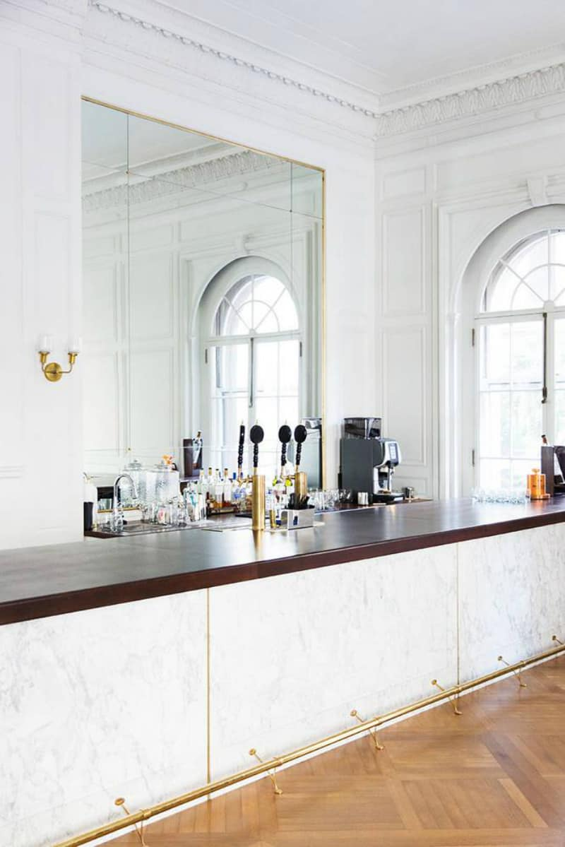 Stylish white home bar