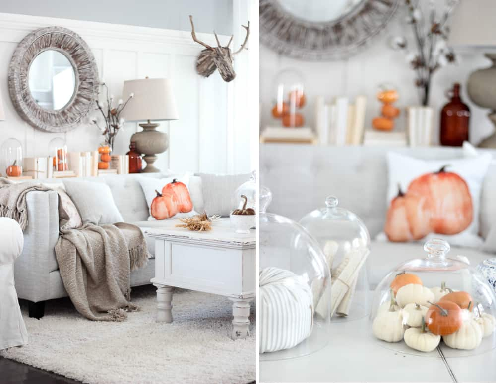 Tasteful fall living room decor