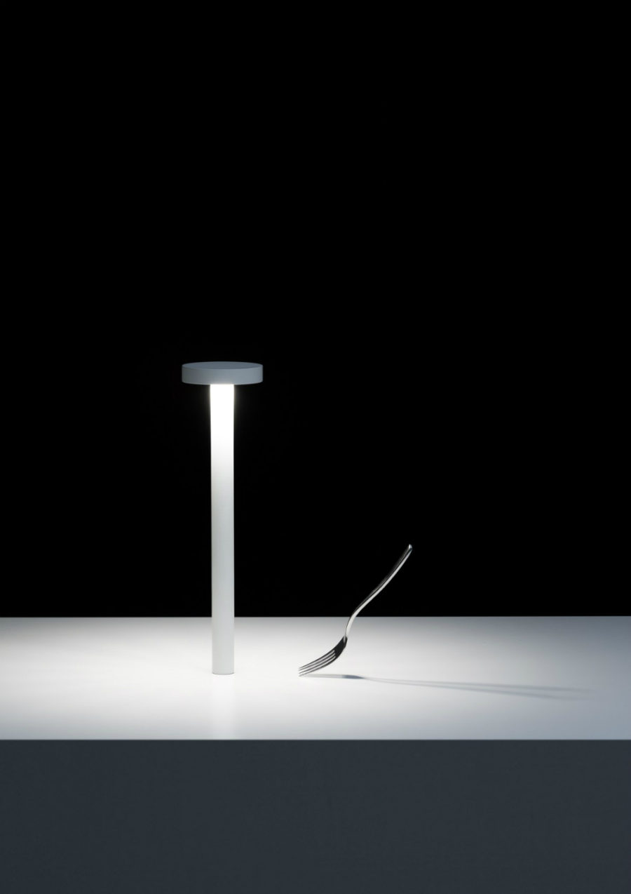 Tetatet LED lamp with rechargeable battery