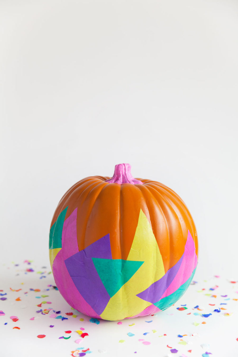 Tissue paper pumpkin decor