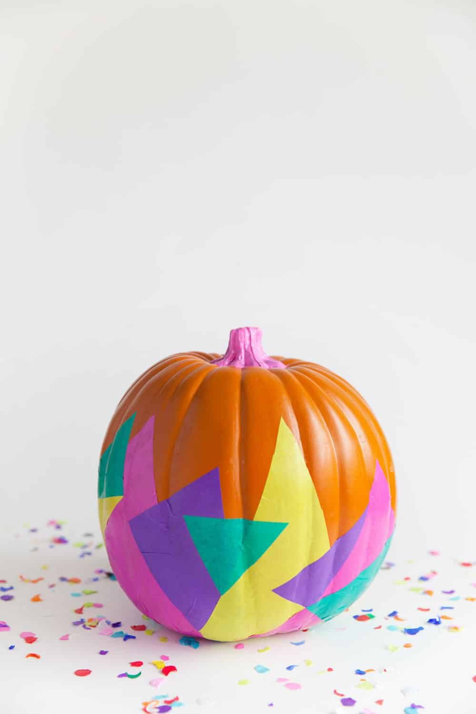 Tissue paper pumpkin decor