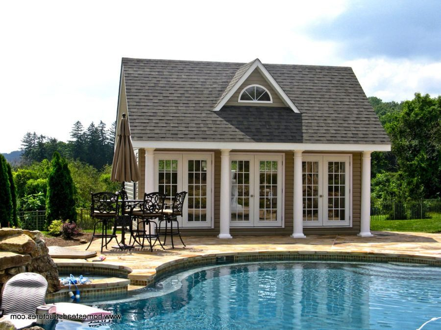 Traditional style house with beautiful pool 900x675 35 Swoon Worthy Pool Houses To Daydream About
