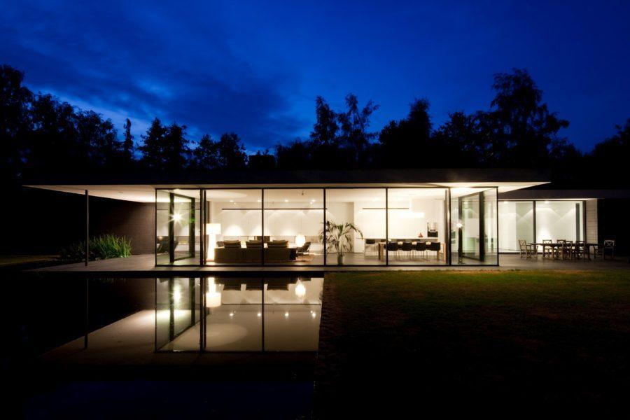 Ultra modern glass house