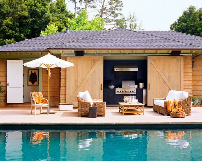 View In Gallery Unique Barn Style House With Pool