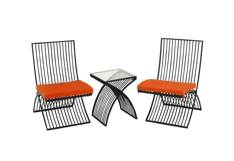 View In Gallery Urban Designs All Weather 3 Piece Outdoor Table And Chair  Set