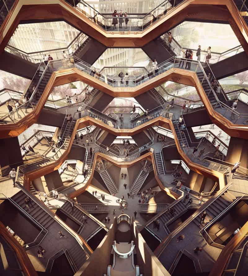 Vessel interior Vessel Will Become Manhattans New Public Landmark in 2018