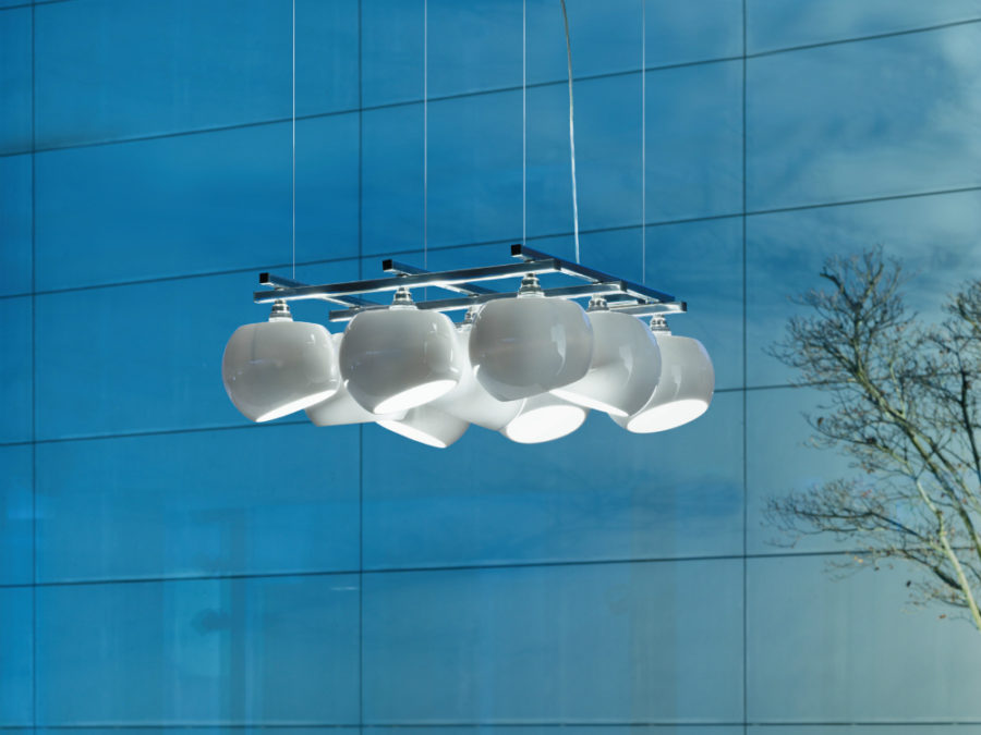 White Moons 3x3 pendant lamp