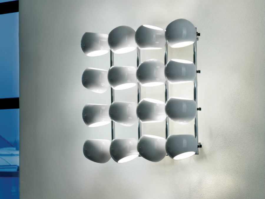 White Moons 4x4 wall lamp
