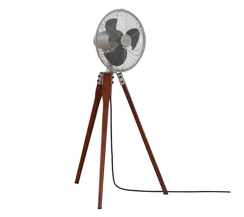 Wood Tripod Floor Fan