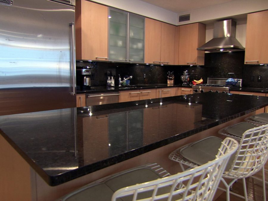 View In Gallery Black Marble Kitchen Countertop