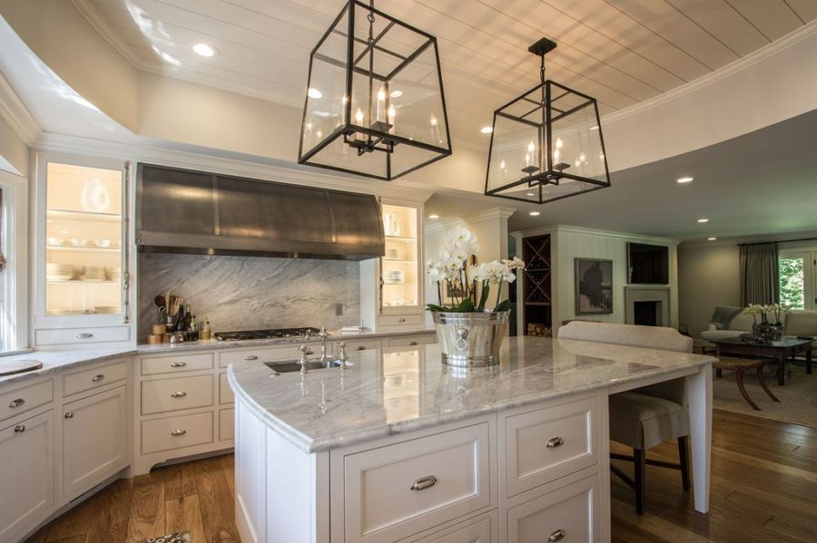 marble countertop and backsplash kitchen