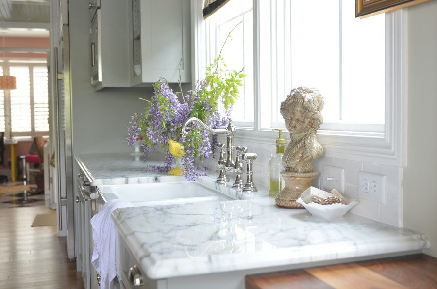 marble kitchen countertop cottage