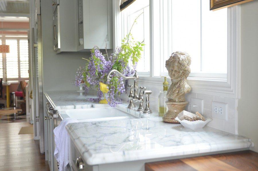 marble kitchen countertop cottage