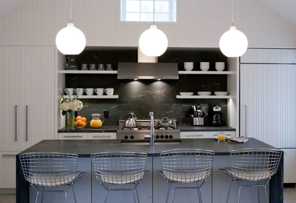 marble-kitchen-countertops-Kitchen-Contemporary-with-black-marble-backsplash-black